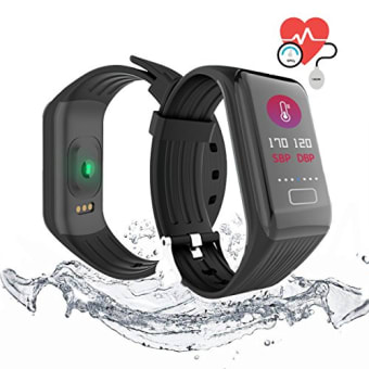 QIANXIANG-Waterproof-Sport-TrackerFitness-Tracker-Band-with-Activity-Heart-Rate-and-Sleep-Monitor-Blood-Oxygen-Pressure-MonitorStep-Calorie-Counter-Wristband-Color-smart-watch-for-Android-and-iOS-0