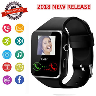 Smartwatch-Bluetooth-Smart-Watch-Phone-with-SIM-TF-Card-Slot-Camera-Pedometer-Touch-Screen-for-Android-Samsung-HUAWEI-Sony-and-IPhone-App-Unavailable-for-Men-Kids-Women-0
