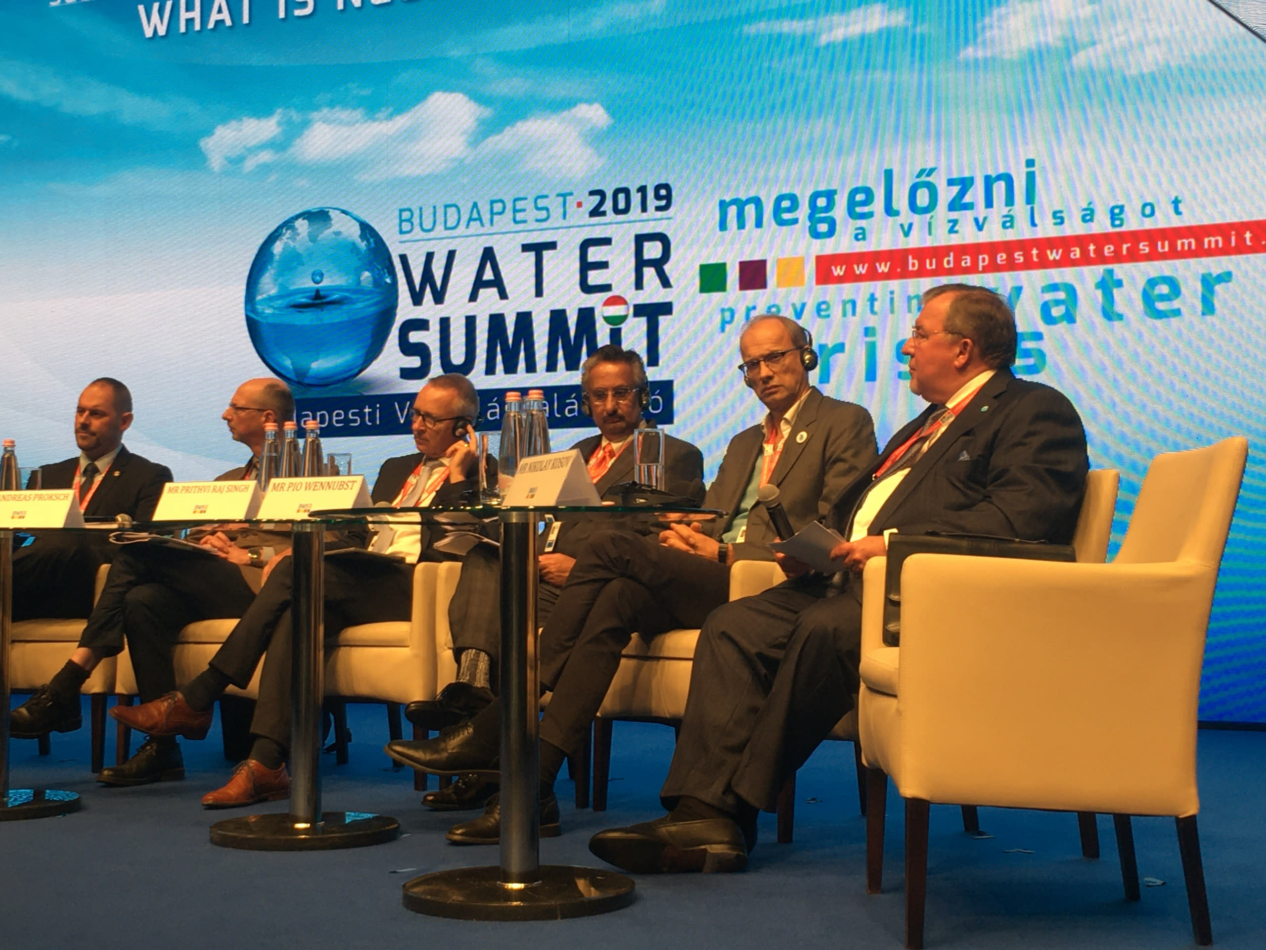 """IIB Chairperson Nikolay Kosov addressed the participants of the third Budapest Water Summit: """"It's time to unite all efforts to protect water resources on a global scale"""""""