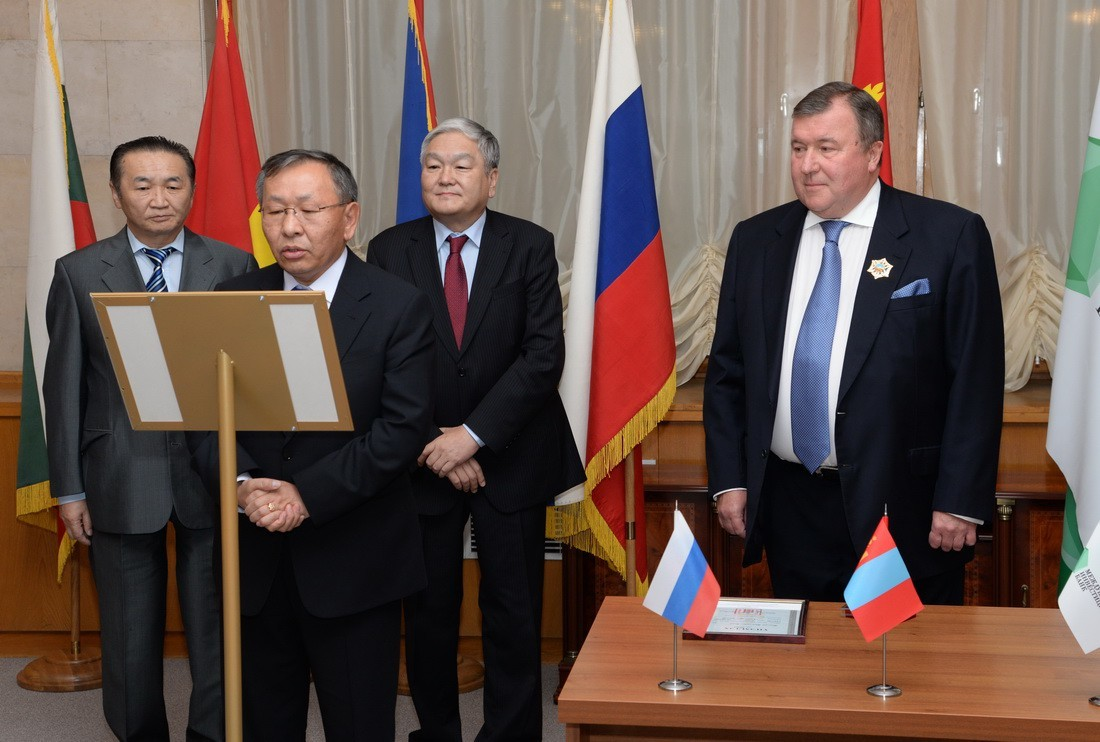 Speech of the Chief of the Staff of the Office of the President Mr. Puntsag Tsagaan during the ceremony of giving the order of the Polar Star to the IIB's Chairman of the Board Nikolay Kosov