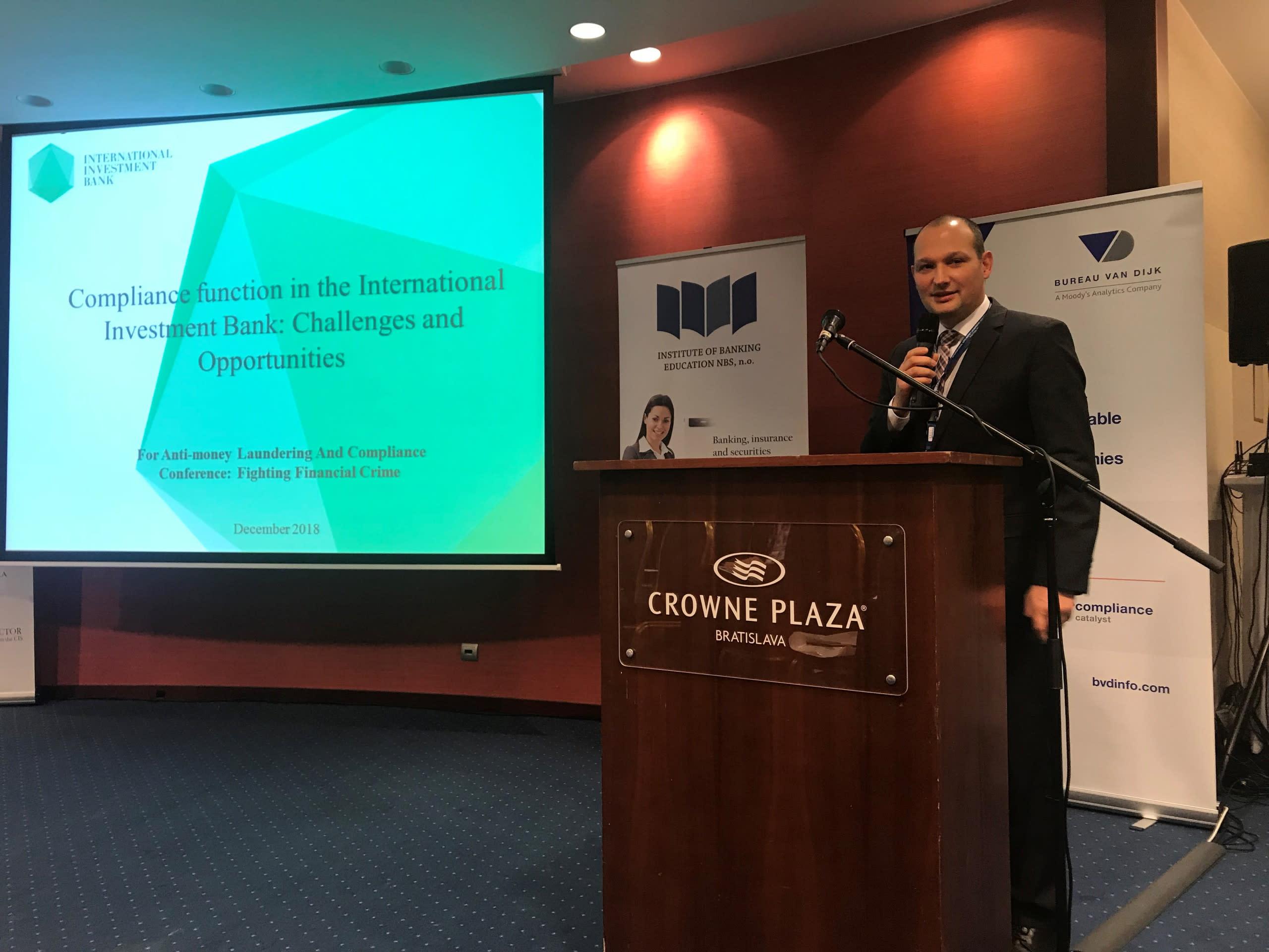 МИБ расширяет международное сотрудничество: банк принял участие в ежегодной конференции BACEE по комплаенсу и противодействию отмыванию преступных доходов