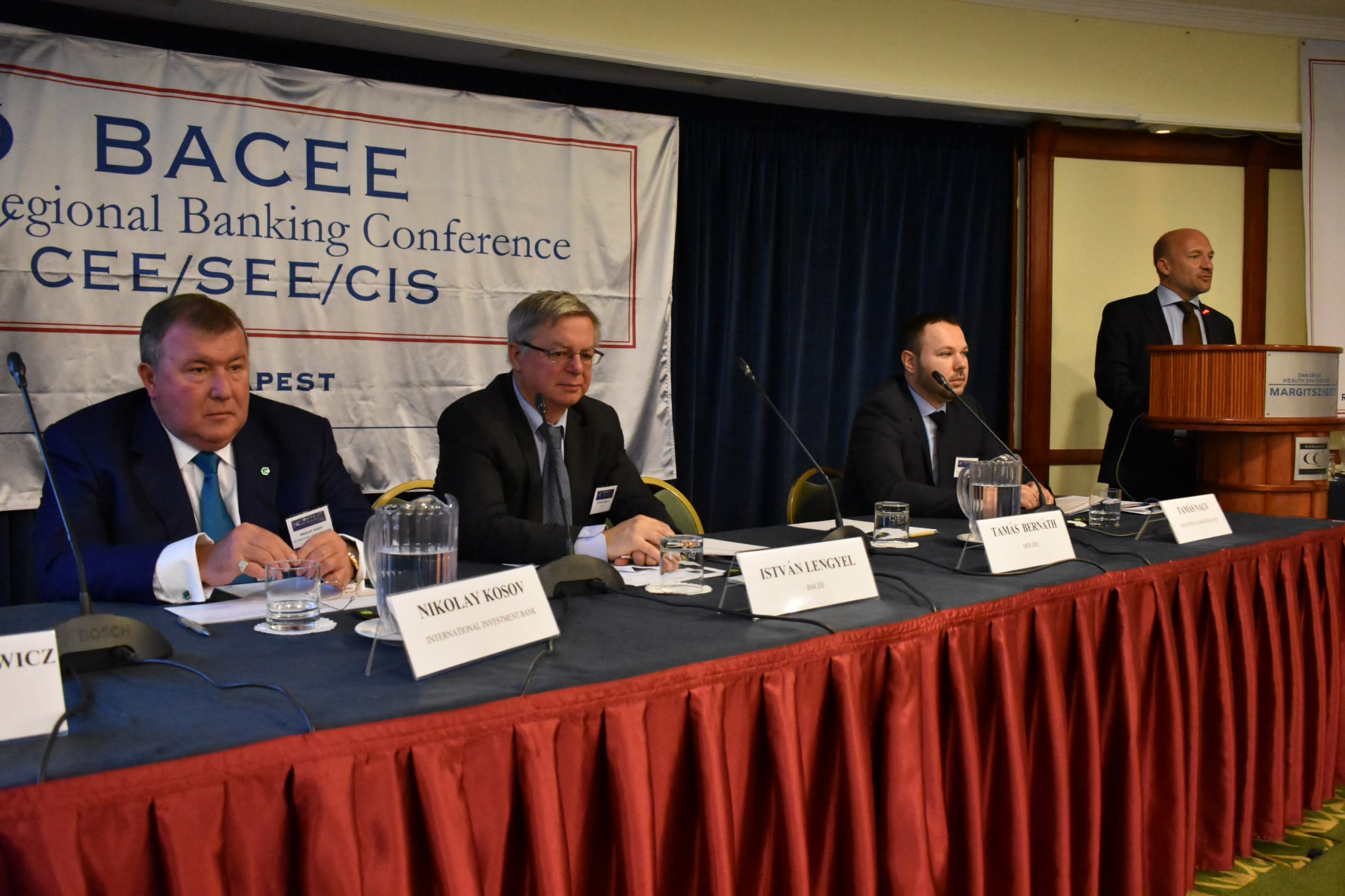IIB Chairman made a speech during an international conference in Budapest and conducted meetings with the heads of the Hungarian delegation of the Bank