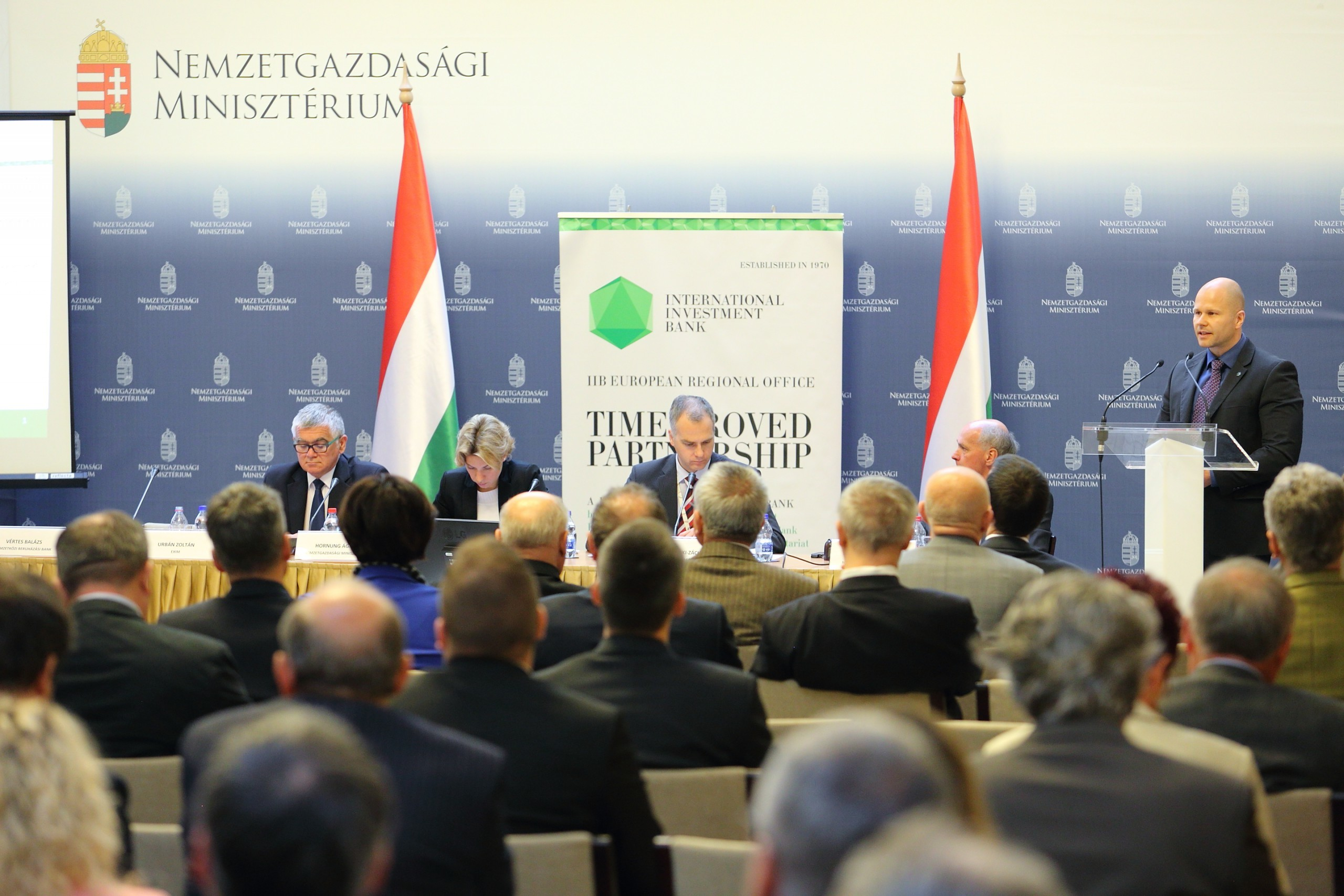 Hungary's Ministry for National Economy hosts IIB's presentation for the country's business community