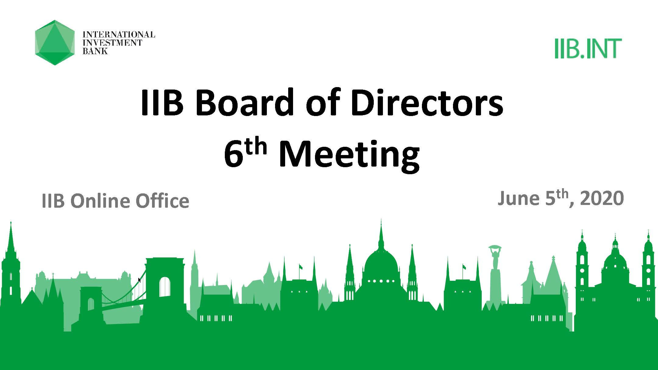 Virtual format and tangible results:  first online IIB Board of Directors meeting takes place