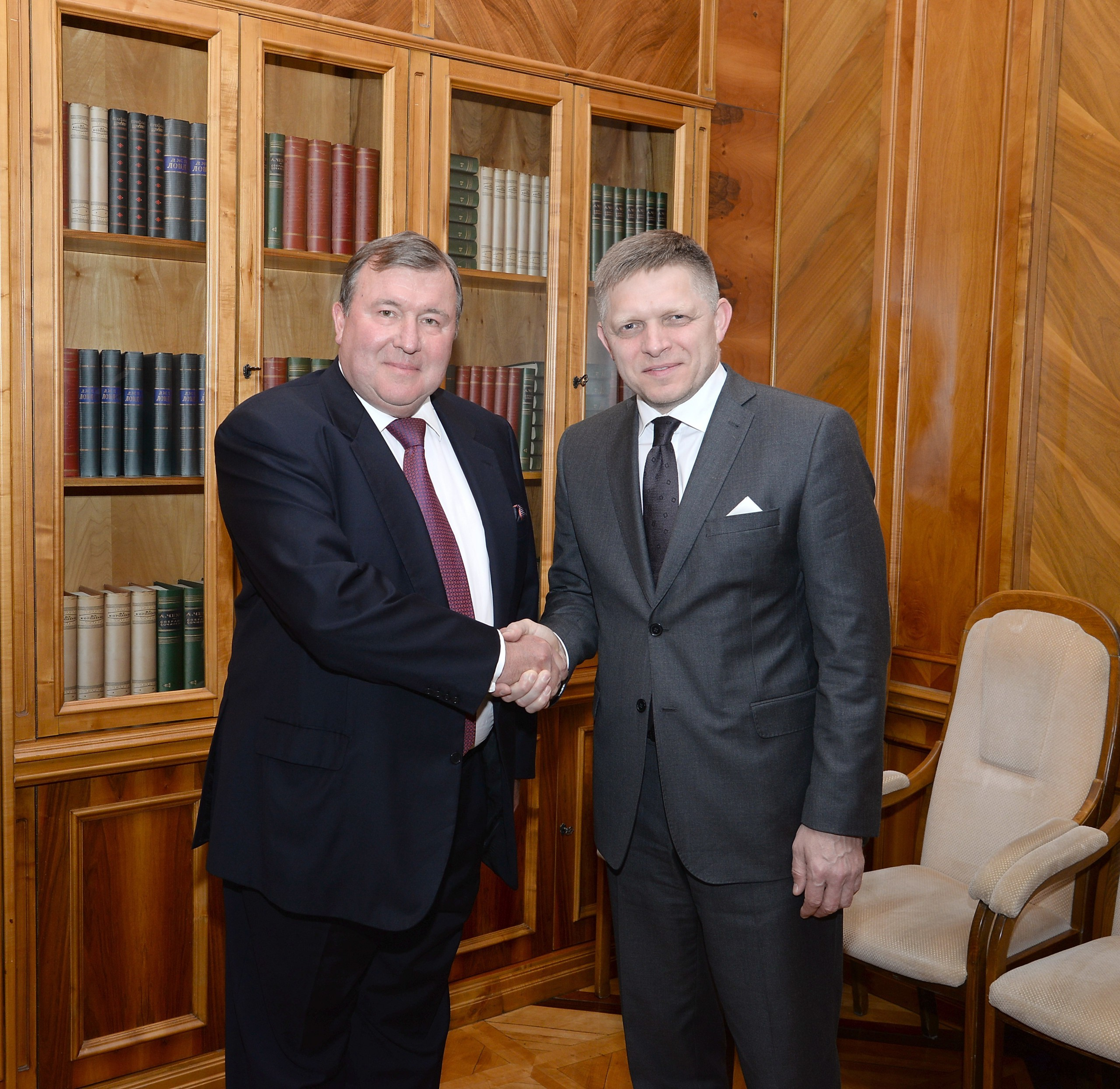 Slovak Prime Minister visited the IIB's headquarters for the Slovak-Russian and Russian-Slovak Business Councils' meetings and held negotiations with the Bank's management