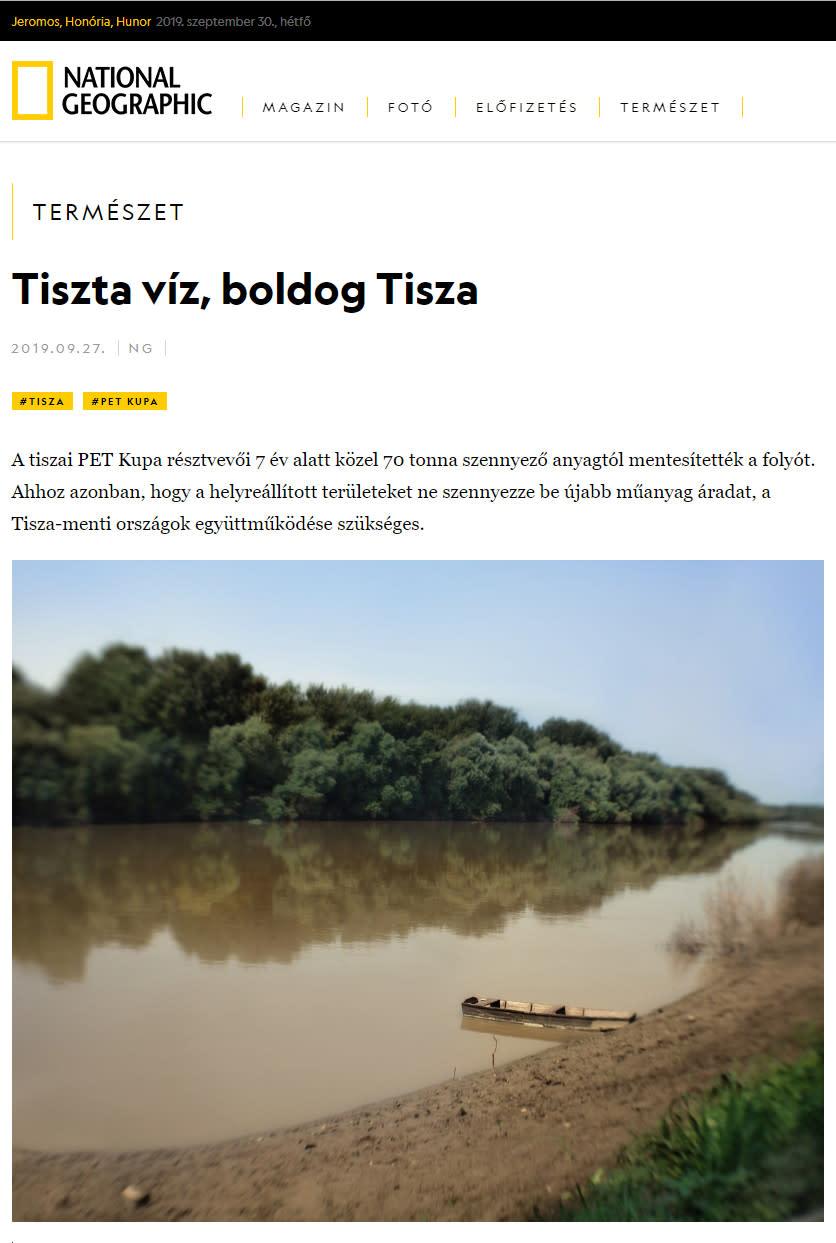 Clean Water, Happy Tisza