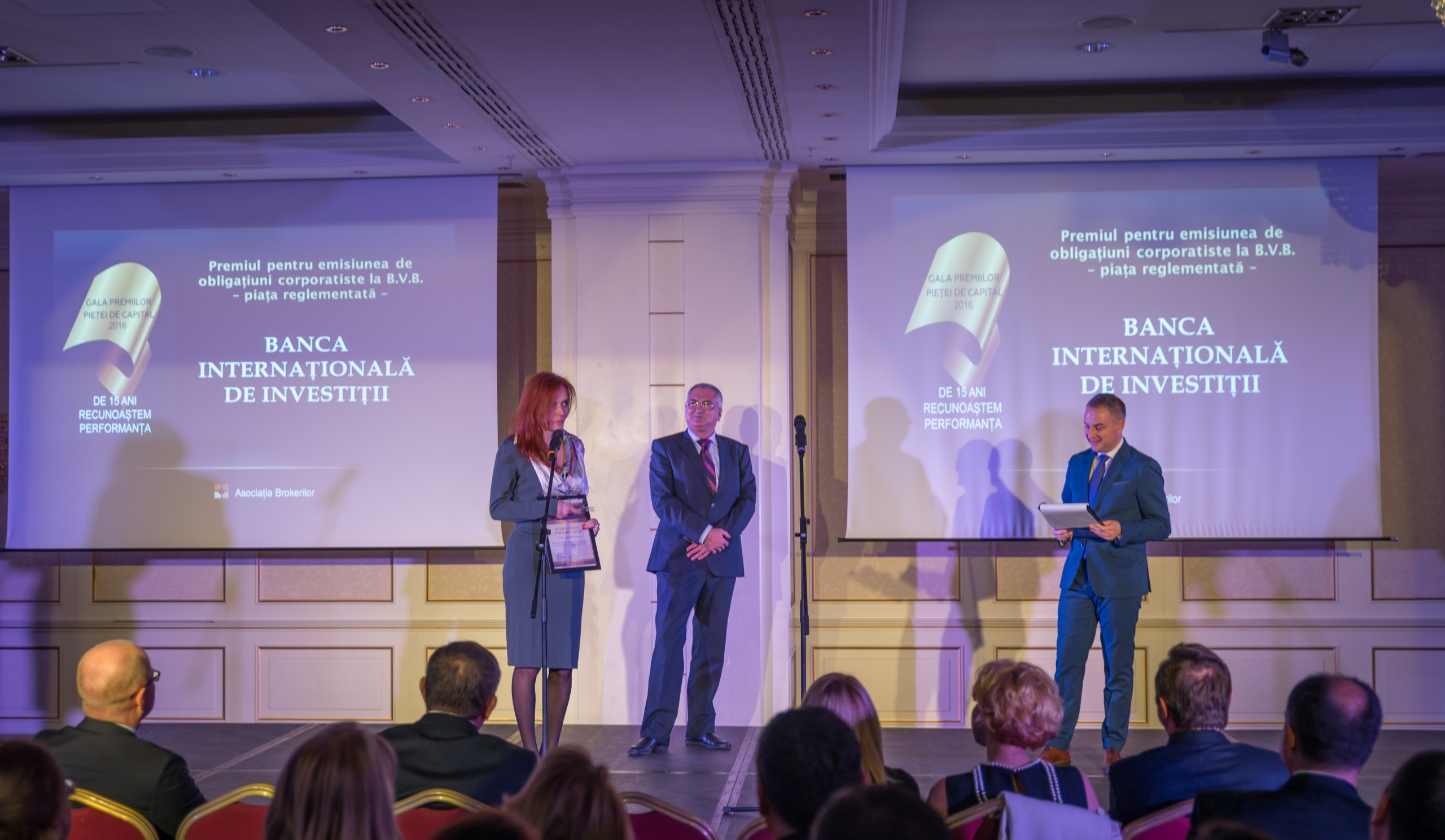 IIB again awarded for contribution to development of Romania's corporate bonds market