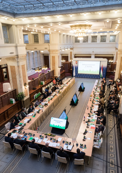 Completion of relocation, increase in capital, new  appointments – Budapest hosts the first meetings of IIB Board of Directors and Board of Governors after the Bank's move to Europe