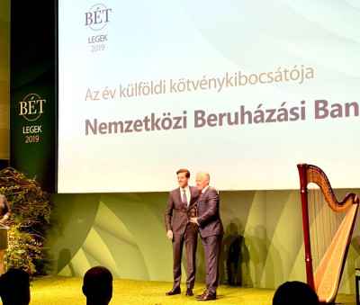 "IIB named ""Best International Issuer of the year"" by the Budapest Stock Exchange"