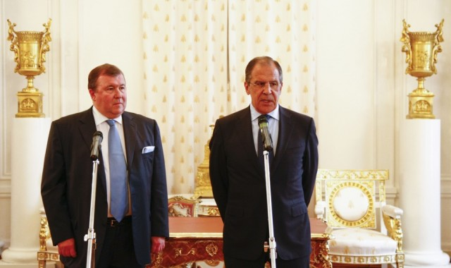 Signing  a Cooperation Agreement with the Russian Foreign Ministry