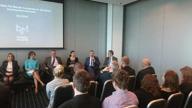 """IIB took part in the event titled """"Opportunities for Slovak Companies in the World Development Business"""""""