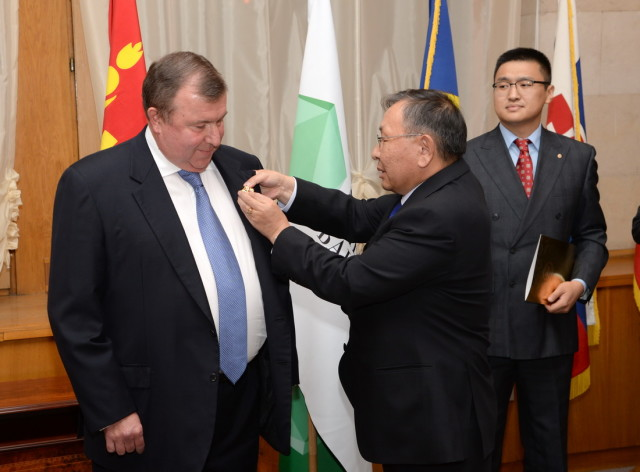 Awarding ceremony of N.N.Kosov with an Order of Polar Star