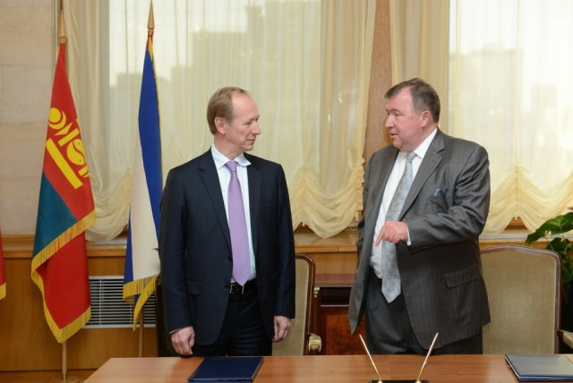 Signing of a loan agreement with Eximbank of Russia