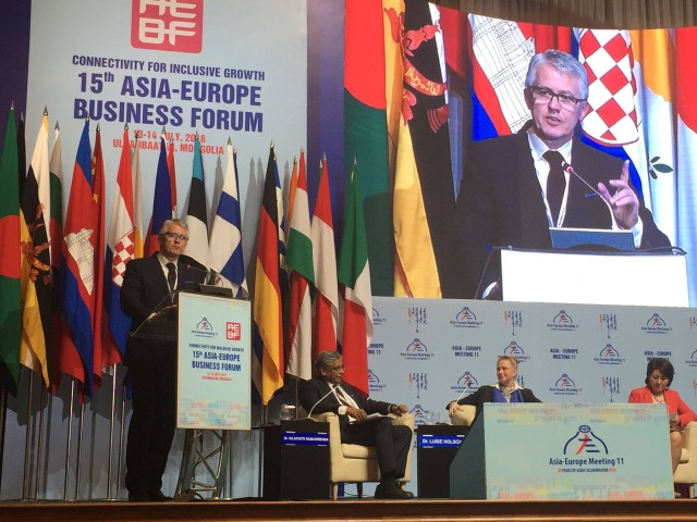 At the 15th Asia-Europe Business Forum in Mongolia IIB assessed IFIs' capacity to deal with economic crisis