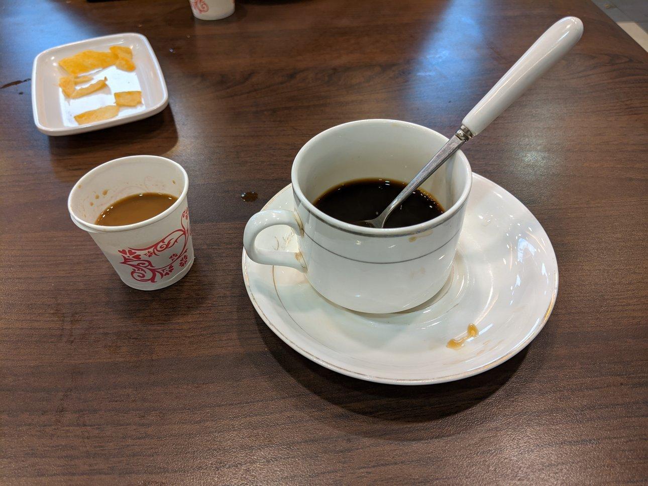 咖啡馆送的咖啡