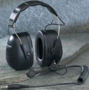 Headset med høy demping og J11-kontakt, hodebøyle