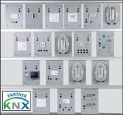 Komplett modulært system for studie av KNX (uten ramme)