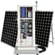 Solcellemodell i mobilt skap