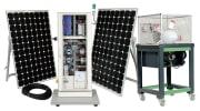 Sol og vindturbin hybridstasjon