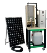 Komplett solcellemodell for vannpumpe drevet av solenergi