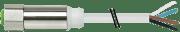 Halogenfri kabel, M12-4pin (IP69K)