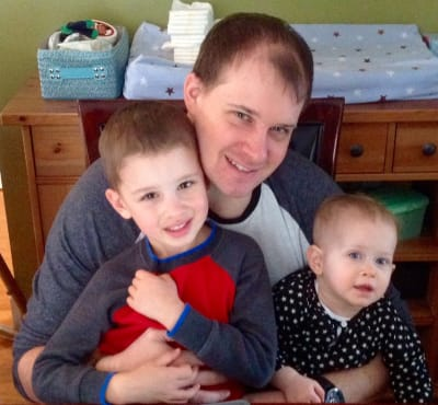 Nathan Koop with children