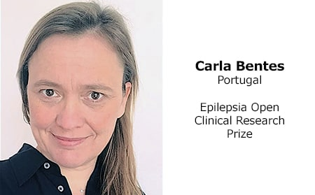 Carla Bentes (Portugal), winner 2018 Epilepsia Open Prize for Clinical Research