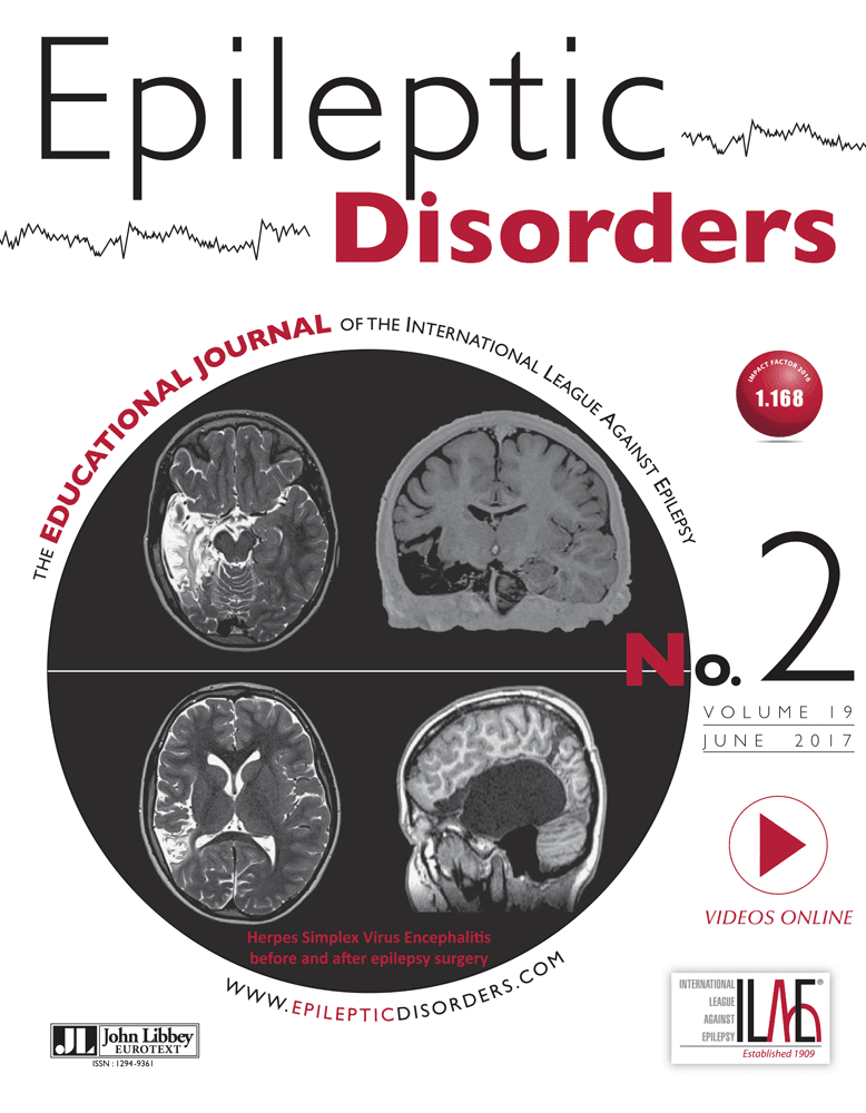 Epileptic Disorders No 2 cover