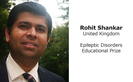 Rohit Shankar (United Kingdom) 2018 Epileptic Disorders Educational Prize