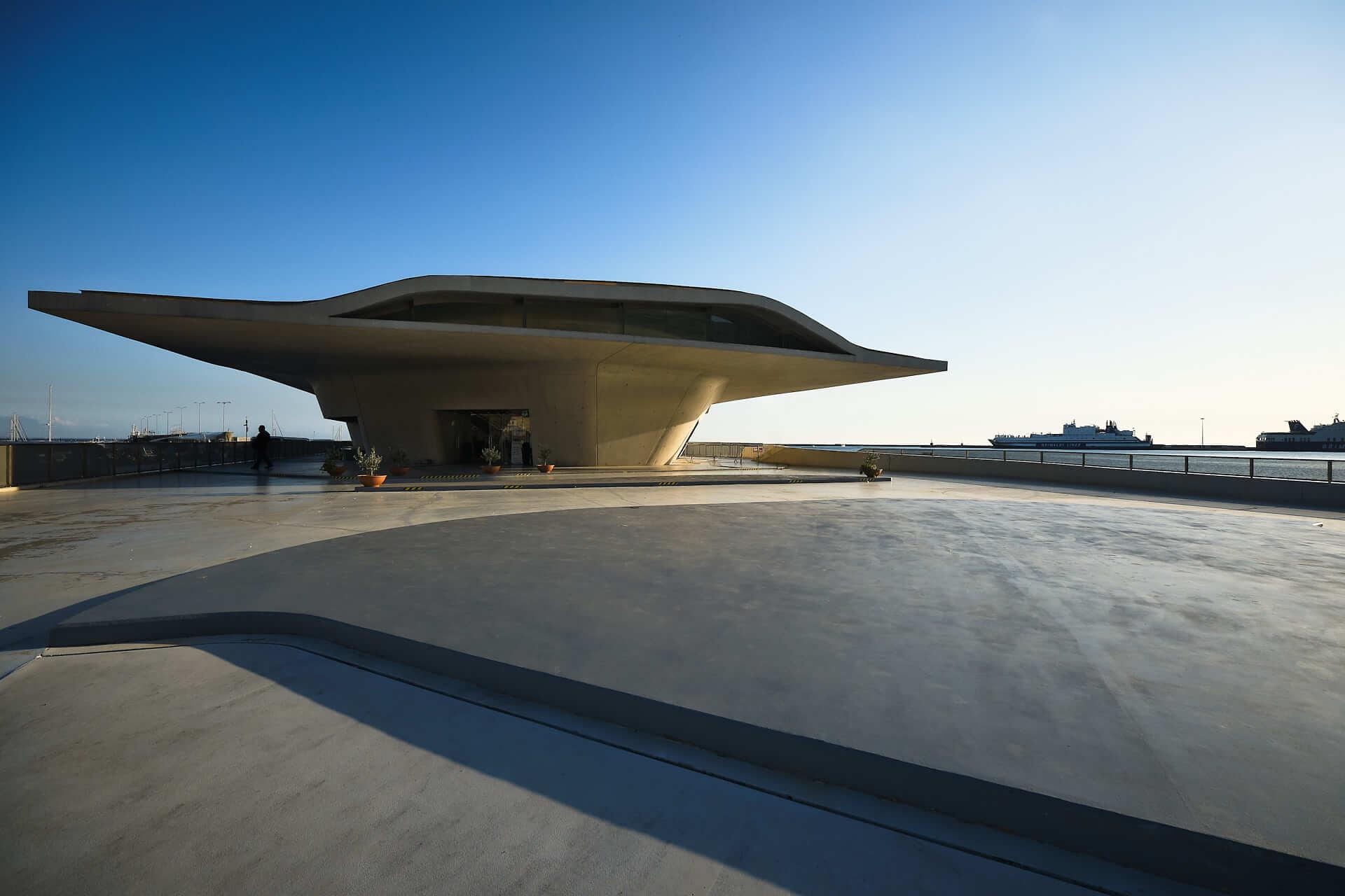 Fotografie Stazione marittima di Salerno, Architetto Zaha Hadid