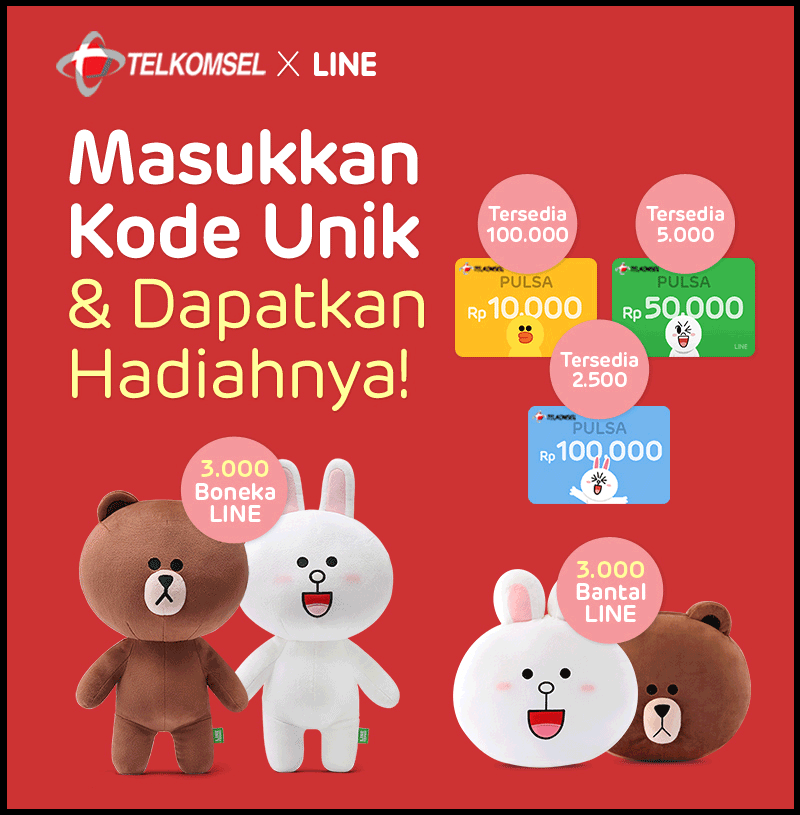 Event Telkomsel x Line Lucky Chance Berhadiah Pulsa