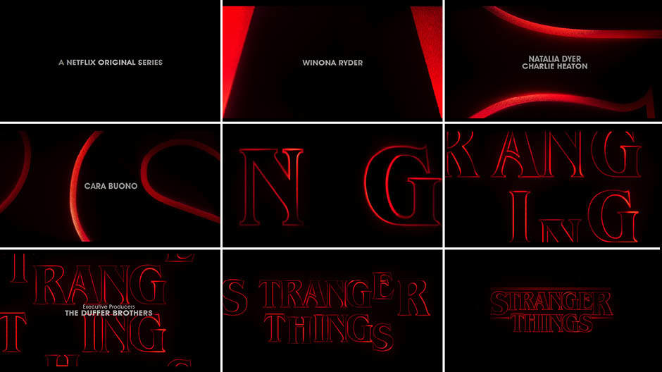 Stranger Things Main Title Typography Spotlight