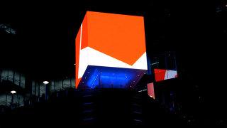 Microsoft Times Square Cube