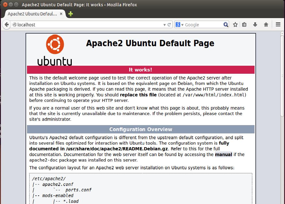 Apache Ubuntu 16.04