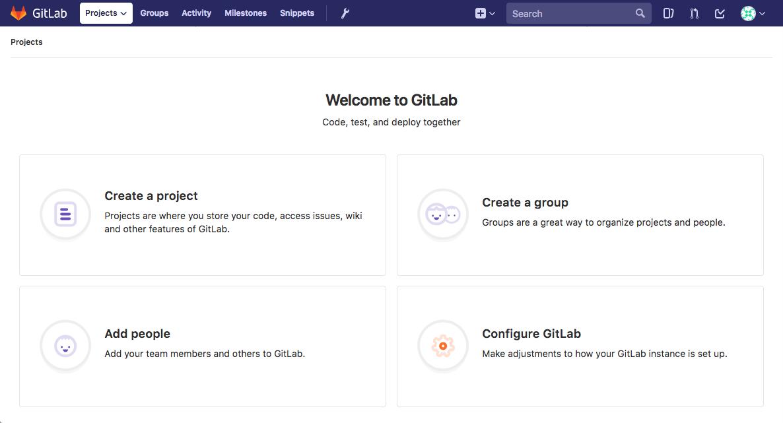 Gitlab Landing Page