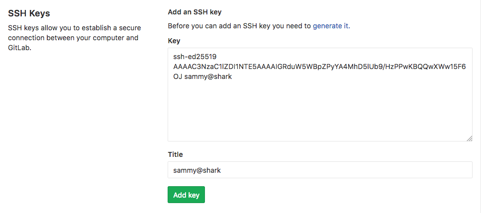 Gitlab SSH