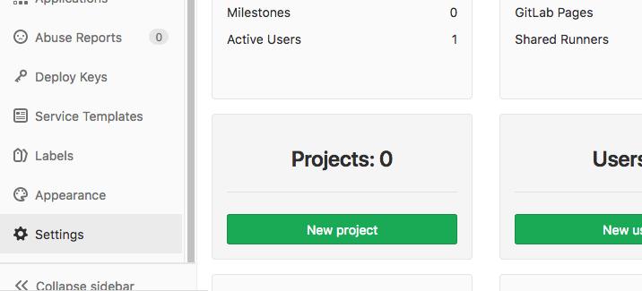 Admin Setting Gitlab