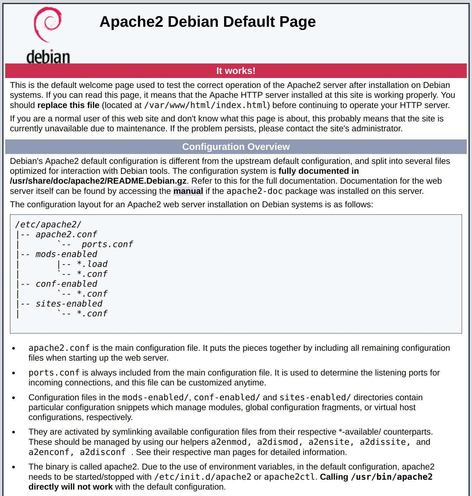 Debian Apache