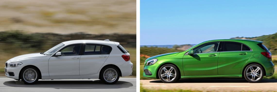 Las fotos del BMW Serie 1 corresponden al acabado Advantage. Las fotos del Mercedes-Benz Clase A corresponden al acabado AMG Line. Fotos cedidas por KM77.