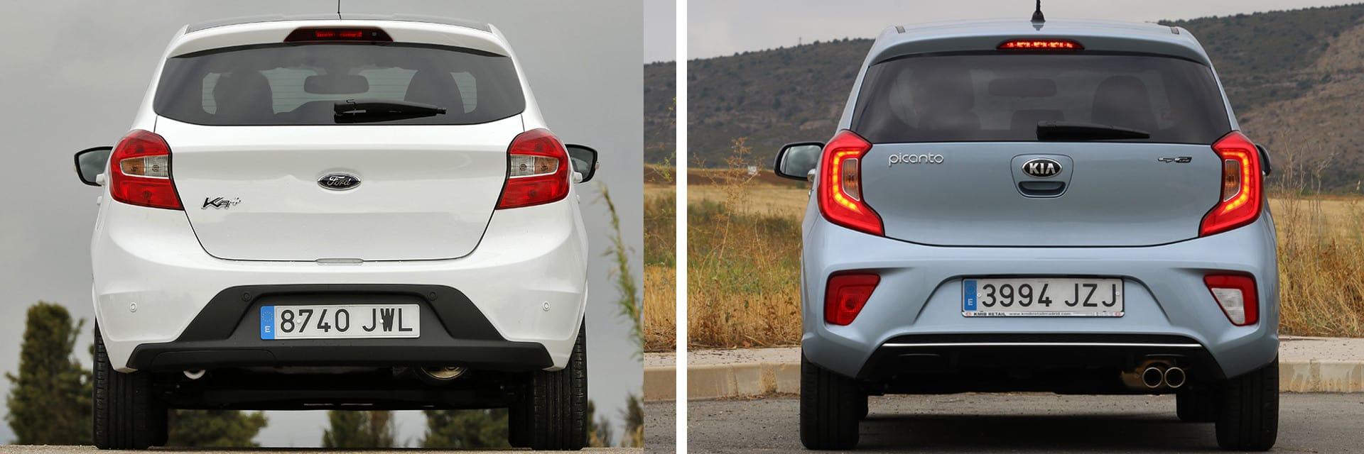 Las fotos del Ford Ka+ corresponden al acabado White Edition. Las fotos del Kia Picanto corresponden al acabado indicado. Fotos cedidas por KM77.