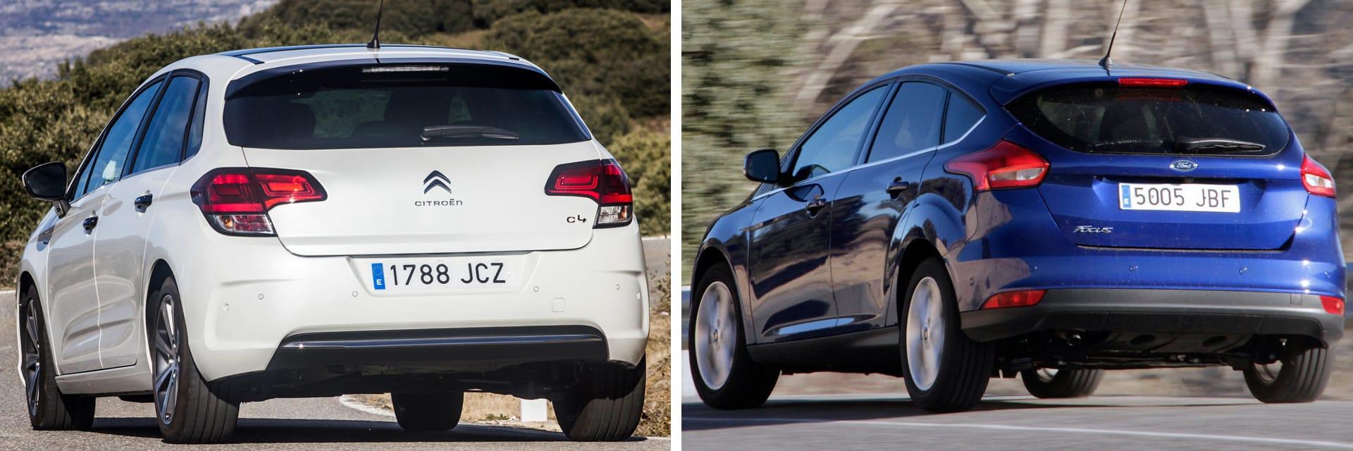 Las fotos del Citroën C4 corresponden al acabado Exclusive. Las fotos del Ford Focus corresponden al acabado indicado. Fotos cedidas por KM77.