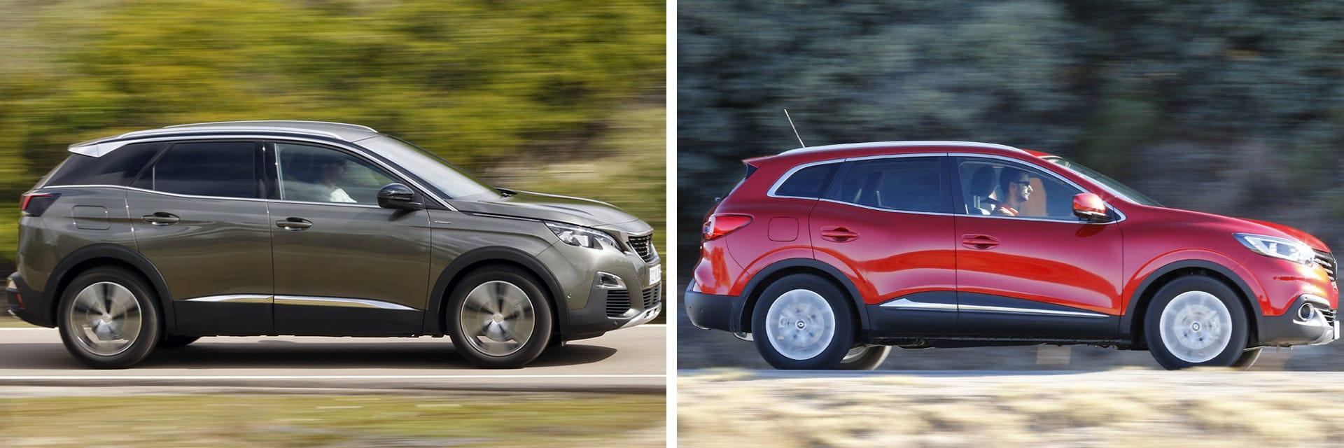 Las fotos del Peugeot 3008 corresponden al acabado GT Line. Las fotos del Renault Kadjar corresponden al acabado Zen Energy. Fotos cedidas por KM77.