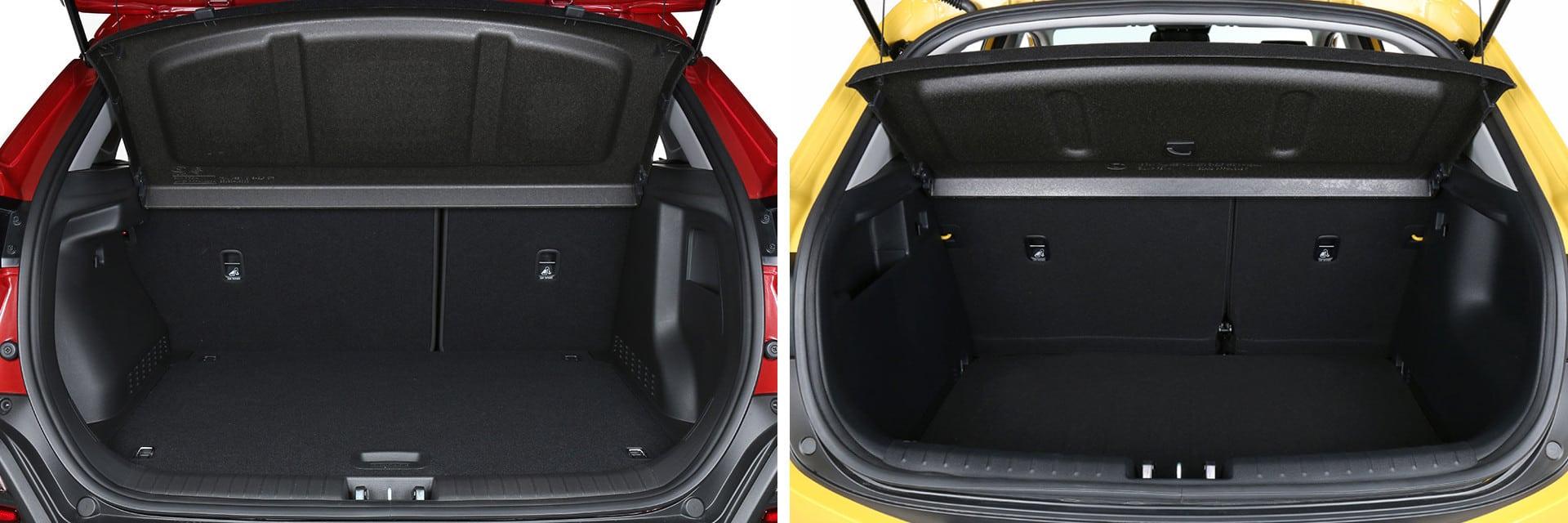 Las fotos del Hyundai Kona corresponden al acabado Klass. Las fotos del KIA Stonic corresponden al acabado Tech. Fotos cedidas por km77.