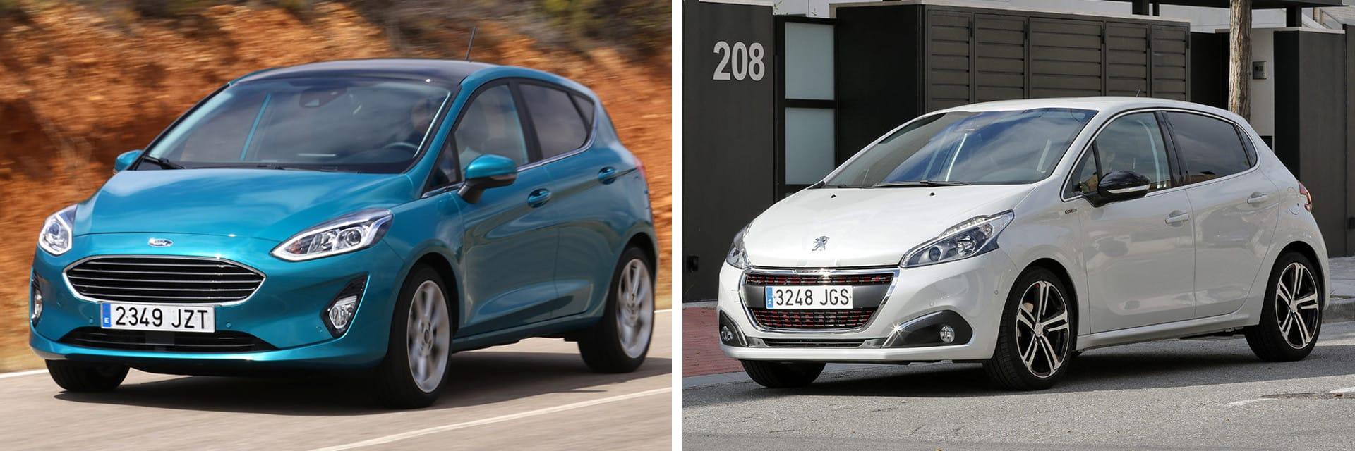 Los dos coches cuentan con una caja de cambios manual. La del Ford es de seis velocidades y la del Peugeot, de cinco.
