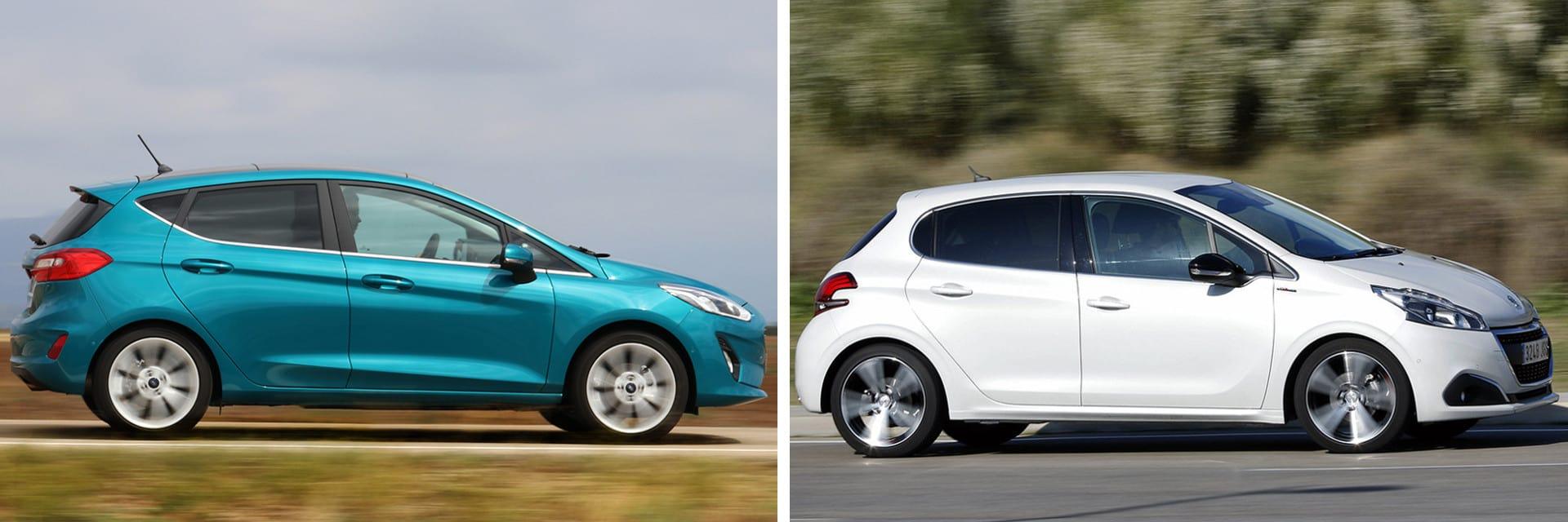 El ruido aerodinámico en el interior del Peugeot 208 es mayor que en el Ford Fiesta.