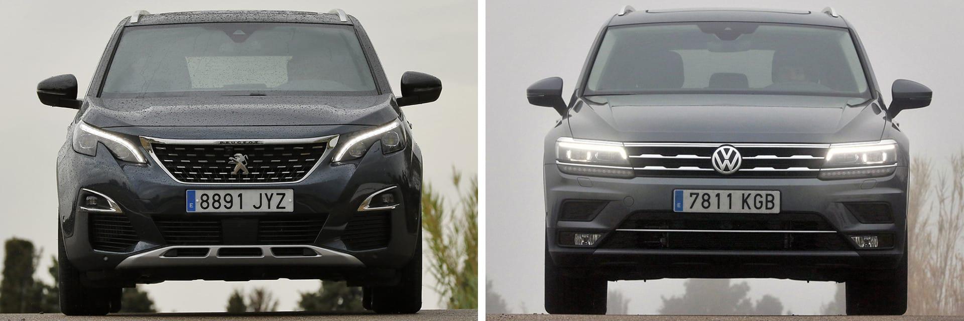La distancia libre al suelo con la que cuenta el Peugeot (izq.) es de 236 mm, mientras que la del Volkswagen (dcha.) es de 201 mm.