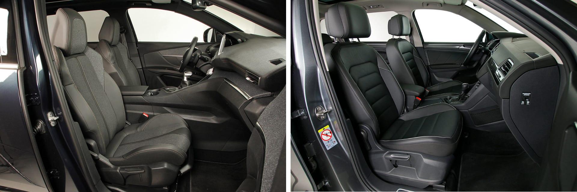 Las medidas que hay en las plazas delanteras son prácticamente iguales en los dos coches.
