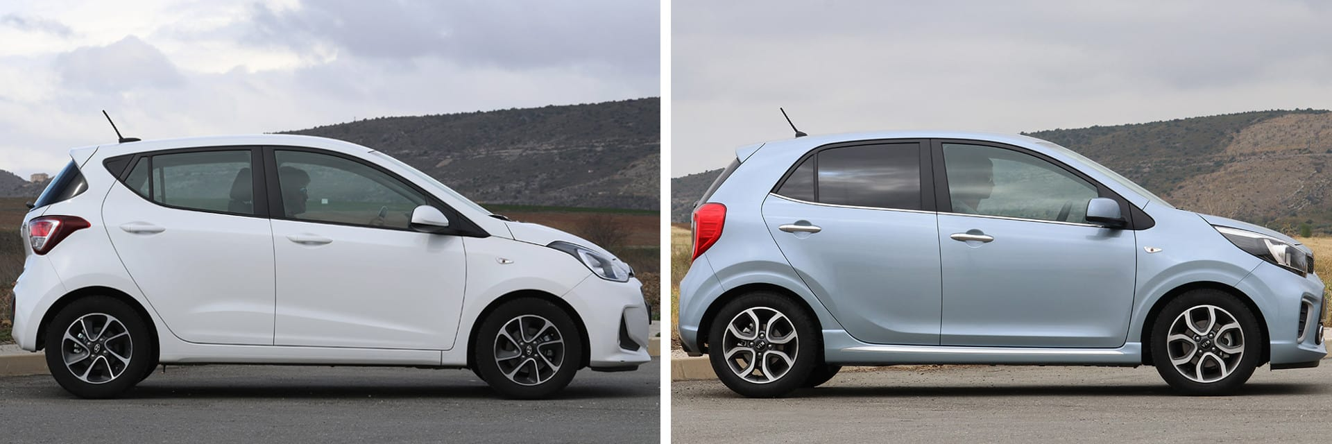 Estos dos coches utilitarios son cómodos para circular por ciudad: maniobran bien y ocupan poco.
