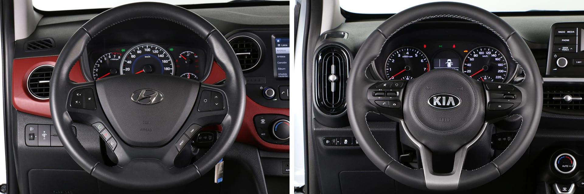 En ambos vehículos se llega bien a todos los mandos desde el puesto de conducción y no resulta complicado encontrar la postura adecuada.