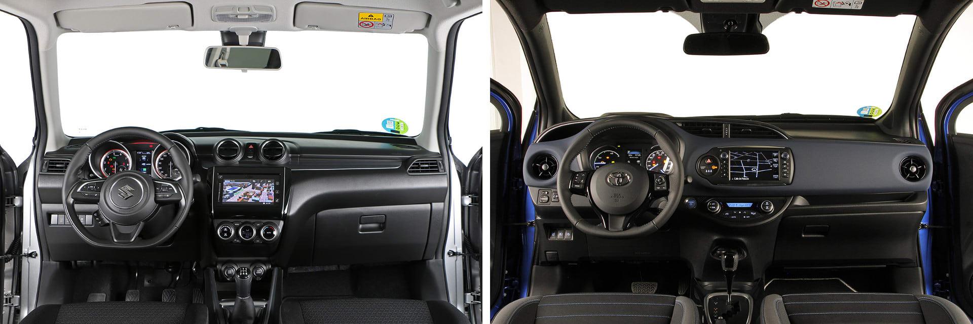 El interior de ambos vehículos tiene un buen ajuste entre piezas, aunque esté construido con materiales poco vistosos.